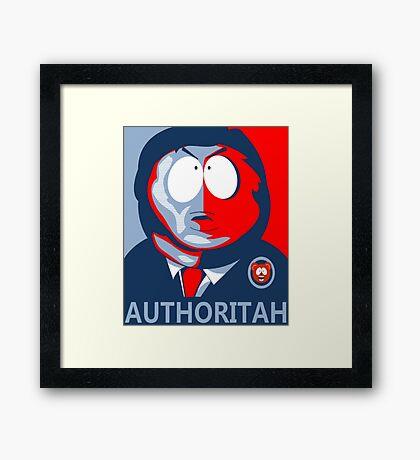 Respect my Authoritah Framed Print