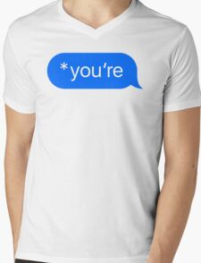 *you're Mens V-Neck T-Shirt