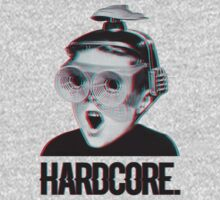 Hardcore Meme Boy (3D vintage effect) Kids Tee
