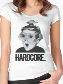 Hardcore Meme Boy (3D vintage effect) Women's Fitted Scoop T-Shirt