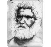 Tribal Elder - Australian Aborigine Pencil Drawing iPad Case/Skin