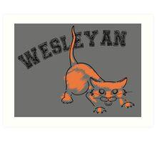 Wesleyan Bobcat Art Print