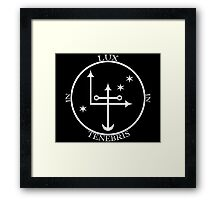 Lux in Tenebris (Light in the Darkness) Framed Print
