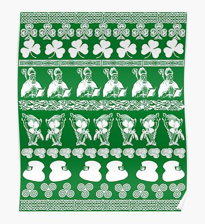 Ugly Irish Sweater for St Patricks Day Poster