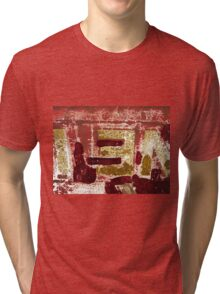 Backside Abstract  Tri-blend T-Shirt