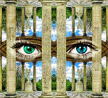 Surrealist Temple of Love Petit Trianon Versailles Paris by Beverly Claire Kaiya
