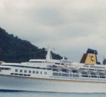 Classic Costa Riviera Cruise Ship, Caribbean Sticker