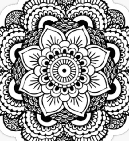 Black and white flower Sticker