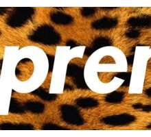 Supreme X Leopard Sticker