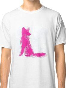 Fuchsia Finger Painted Arctic Fox Classic T-Shirt