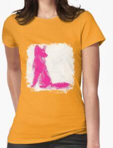 Fuchsia Finger Painted Arctic Fox T-Shirt