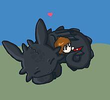 Toothless Hug by nerdypirates