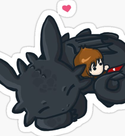 Toothless Hug Sticker