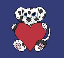 Valentine's Day Dalmatian Puppy with Red Heart Unisex T-Shirt