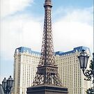 Replica Eiffel Tower, Paris Hotel, Las Vegas, Nevada  by lenspiro