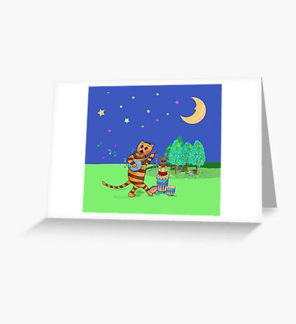 Rocket the Cat & Gilbert the Mouse Greeting Card