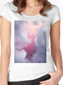 ombre sky Women's Fitted Scoop T-Shirt
