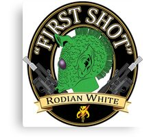 First Shot Rodian White Ale Canvas Print