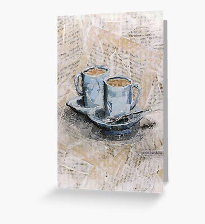 petits bonheurs - little pleasures Greeting Card