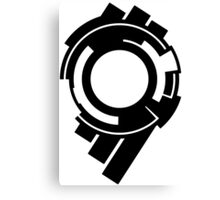 Ghost in the Shell - Public Security Section 9 Logo (Black Logo) Canvas Print