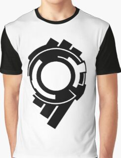 Ghost in the Shell - Public Security Section 9 Logo (Black Logo) Graphic T-Shirt