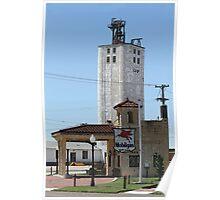 Grain Elevator, Vintage Gas Station Poster