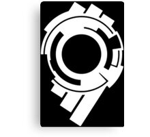Ghost in the Shell - Public Security Section 9 Logo (White Logo) Canvas Print