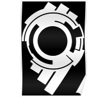 Ghost in the Shell - Public Security Section 9 Logo (White Logo) Poster