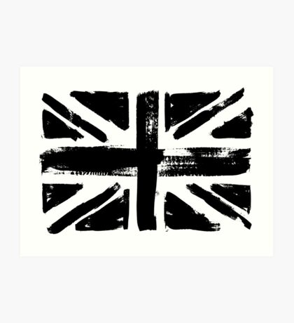 UK painted flag Art Print
