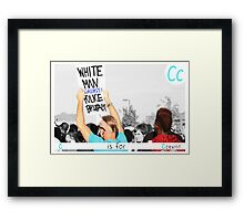 C is for Coexist Framed Print
