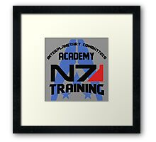 Interplanetary Combatives Academy N7 Framed Print