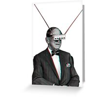 Old Man Tv Glasses (3D vintage effect) Greeting Card