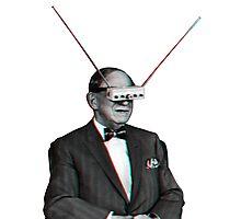 Old Man Tv Glasses (3D vintage effect) Photographic Print