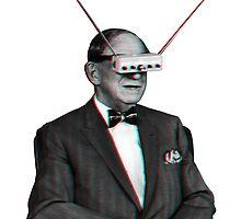 Old Man Tv Glasses (3D vintage effect) by Doge21