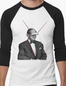 Old Man Tv Glasses (3D vintage effect) Men's Baseball ¾ T-Shirt