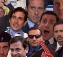 The many faces of Michael Scott Sticker