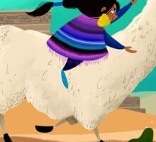 Llama Races Sticker