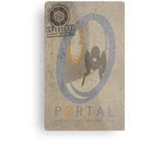 Portal Game Poster Metal Print
