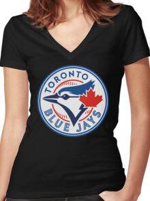 Toronto Blue Jays-Baseball Women's Fitted V-Neck T-Shirt