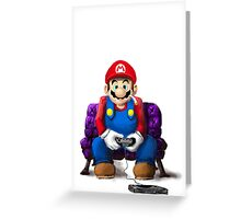 Mario's Day Off Greeting Card
