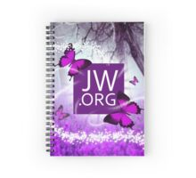 JW.ORG (Puple Butterfly and Fireflies) Spiral Notebook
