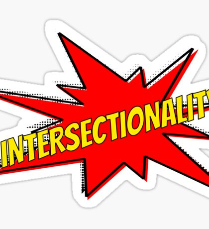 comic book intersectionality Sticker