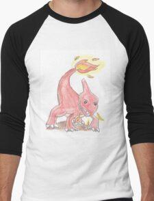 Chameleon Watercolour Men's Baseball ¾ T-Shirt
