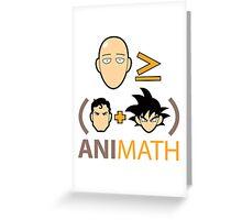 AniMath Greeting Card