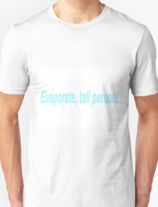 Evaporate Tall Person (Blue) T-Shirt