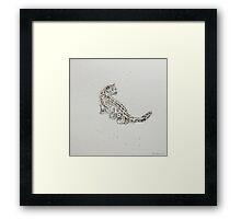 Swift Art, Snow Leopard Framed Print