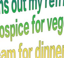Hospice Vegetables Sticker