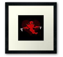 Cupid's got an upgrade  Framed Print