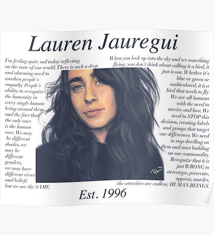 Lauren Jauregui Pastel Sky No Background Poster