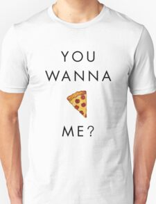 You Wanna Pizza Me? Pizza Emoji - Dark on Light Background T-Shirt